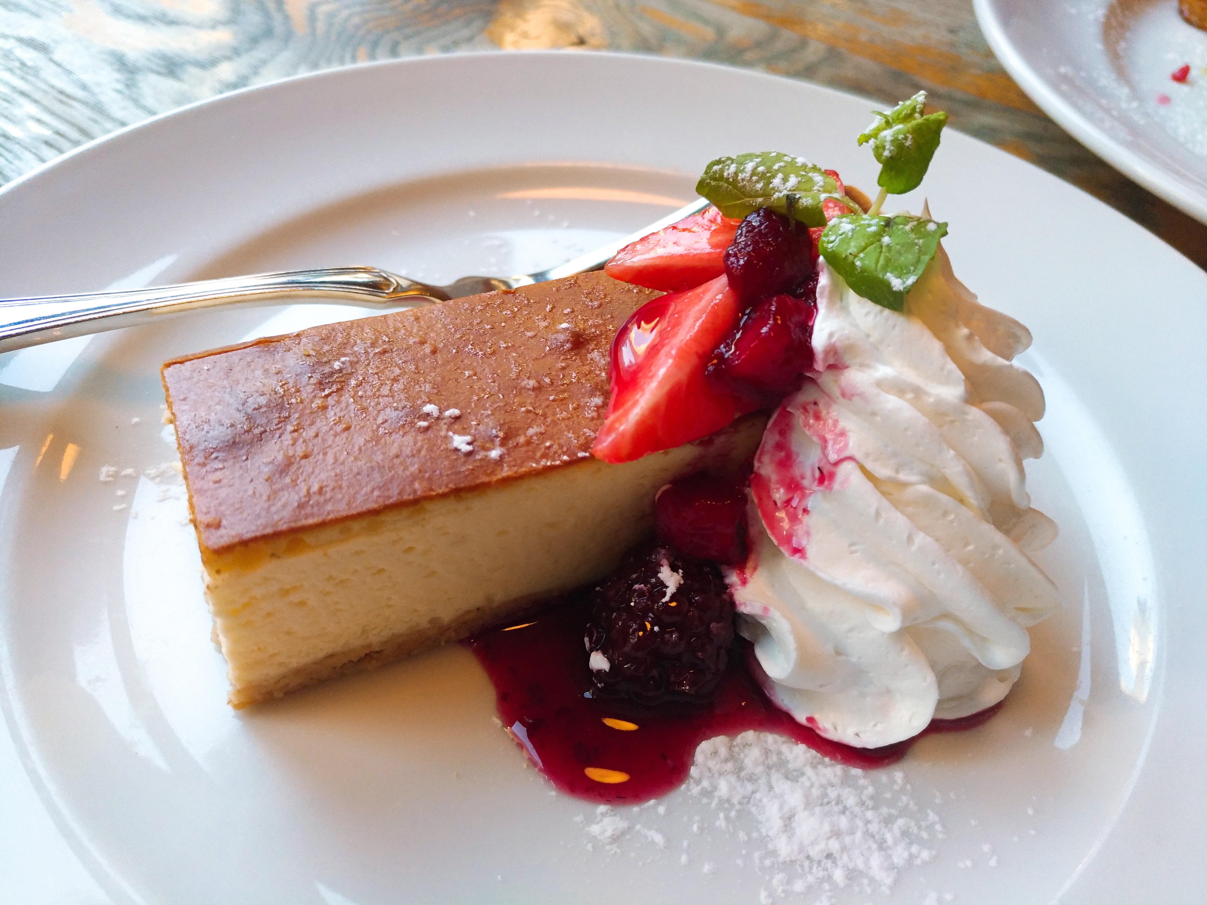 パブリックハウス 渋谷 のベイクドチーズケーキ