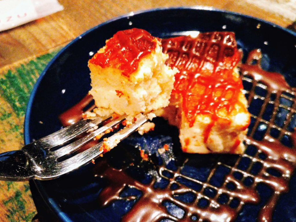 suzu cafe(渋谷) 焦がしキャラメルの濃厚チーズケーキ (1)