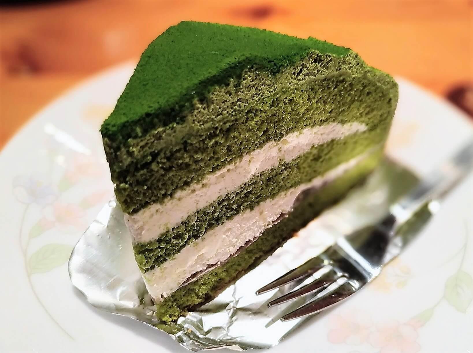 コメダ珈琲 抹茶とクリームチーズのケーキ (5)