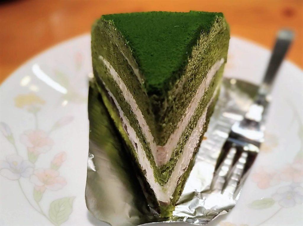 コメダ珈琲 抹茶とクリームチーズのケーキ (4)