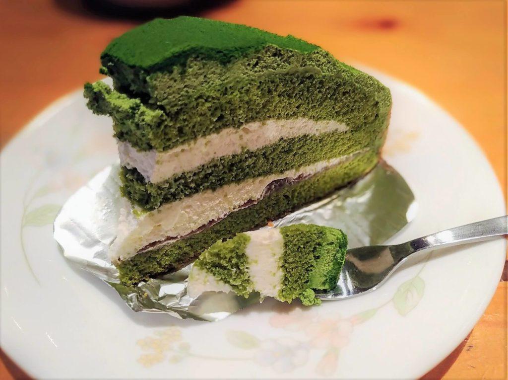 コメダ珈琲 抹茶とクリームチーズのケーキ (6)