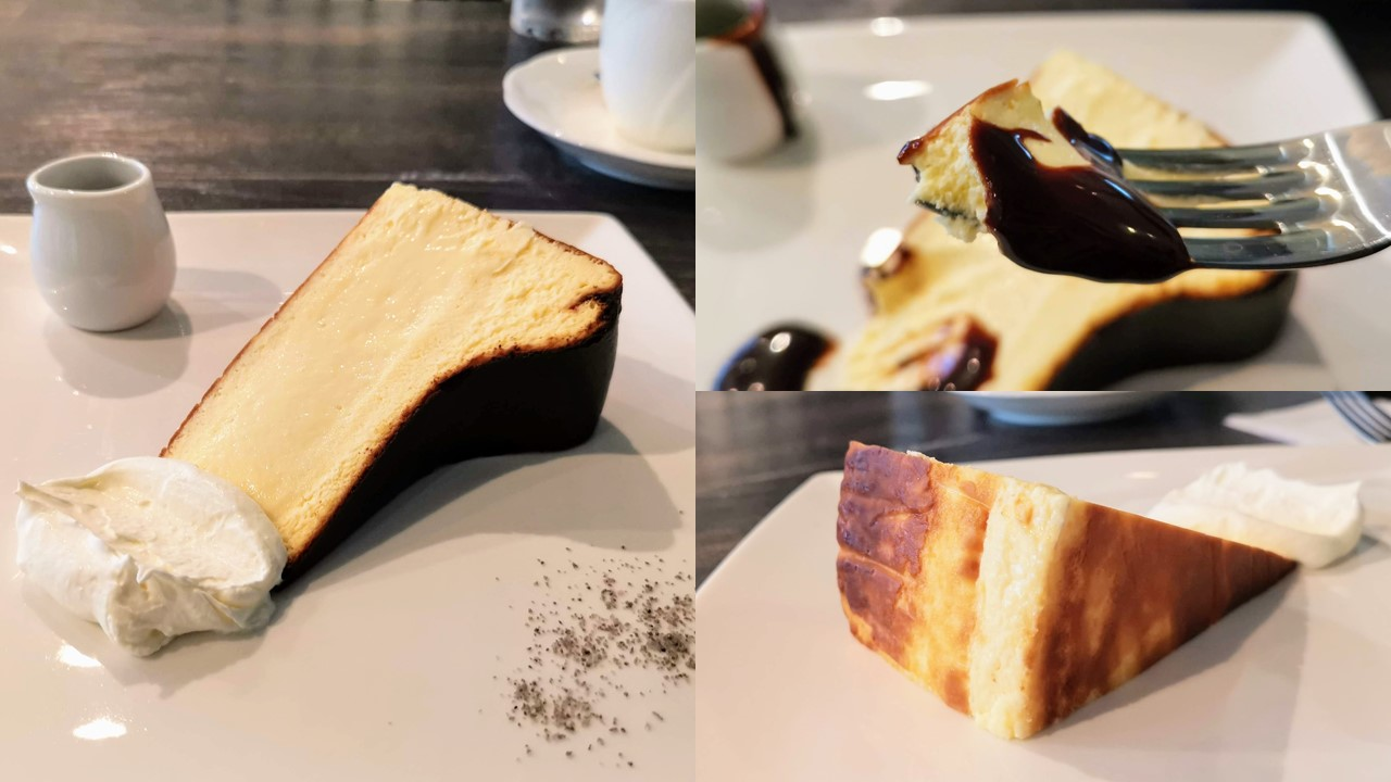 新宿 サーティーンカフェ バスクチーズケーキ