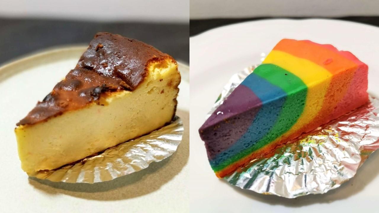 エーワークス 学芸大学のバスクチーズケーキとレインボーチーズケーキ