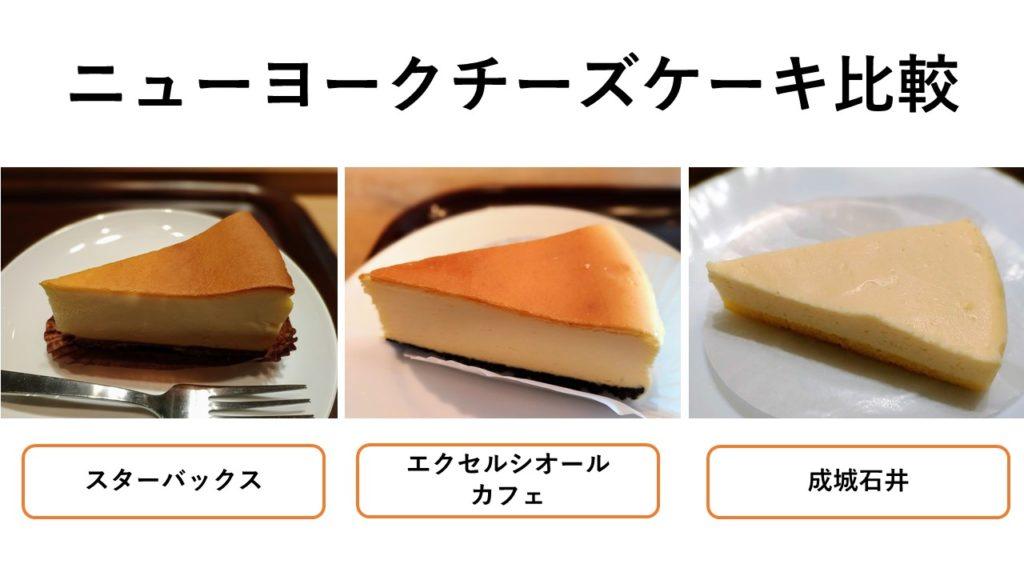 ニューヨークチーズケーキ比較
