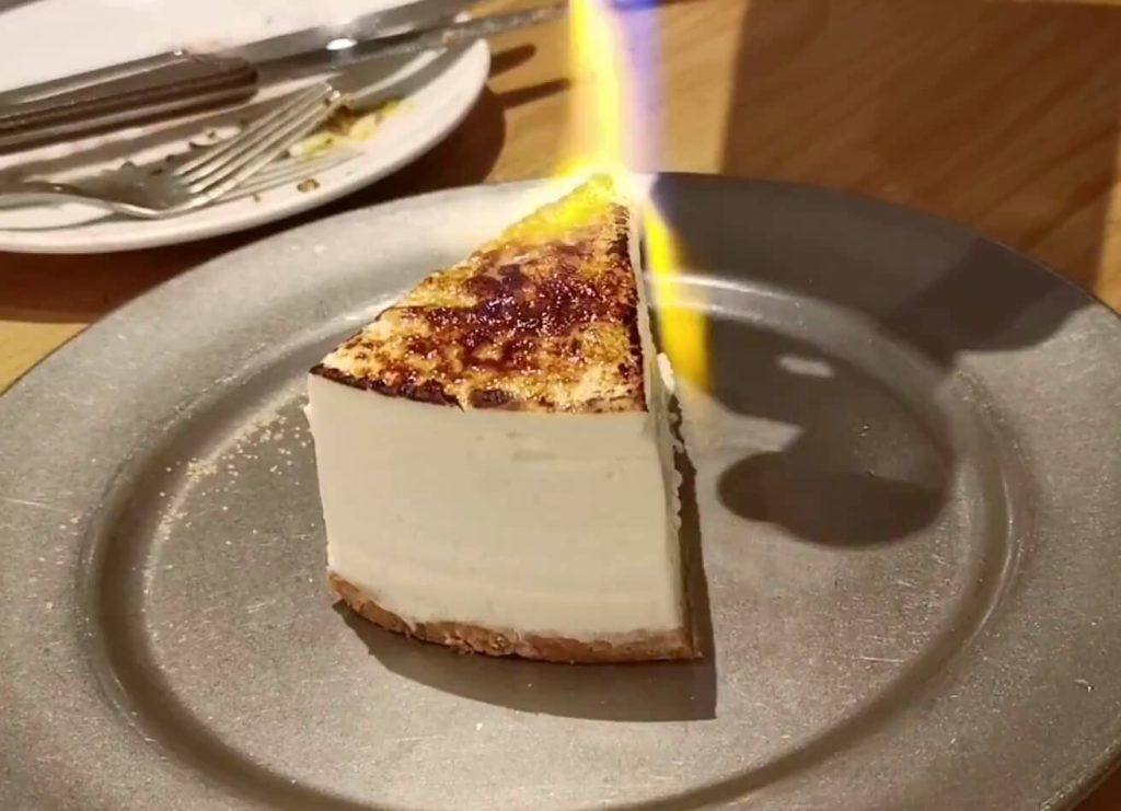 cheese meat bank 炙りレアチーズケーキ