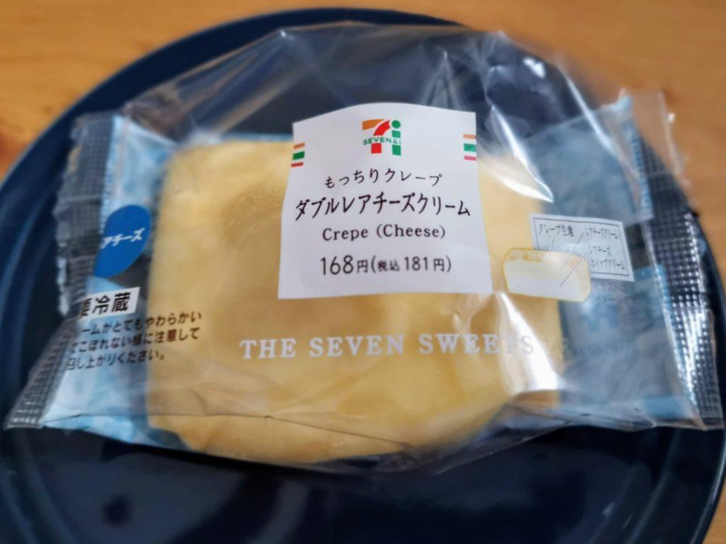 セブンイレブン・デリカシェフ もっちりクレープ ダブルレアチーズクリーム (19)