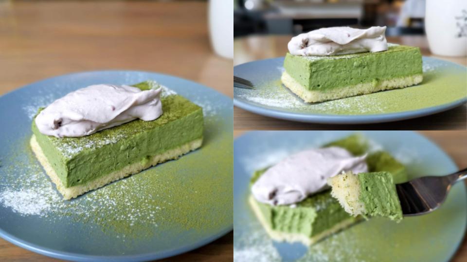 グッドモーニングカフェ 抹茶のチーズケーキ (1)