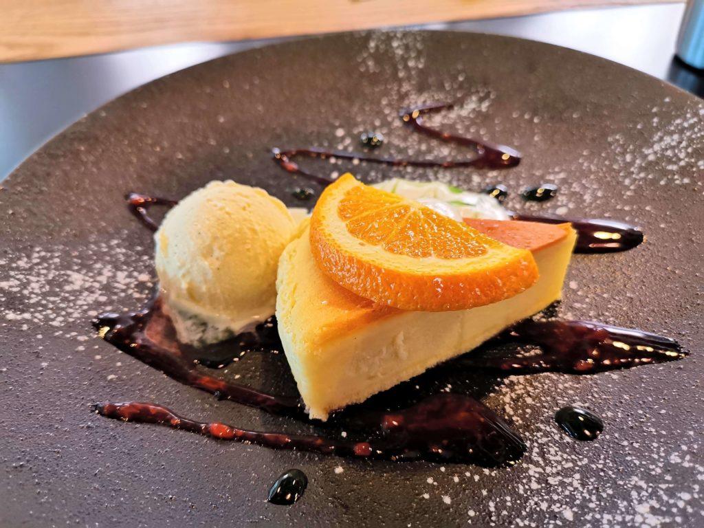 Cafe & Dining ICHI no SAKA 都立大学 福岡糸島地養卵のベイクドチーズケーキ (8)
