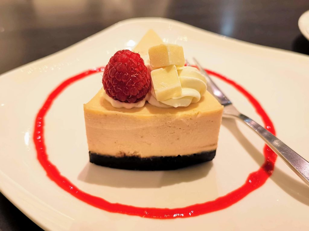 原宿 cafe de 武 (28)ホワイトチョコチーズケーキ