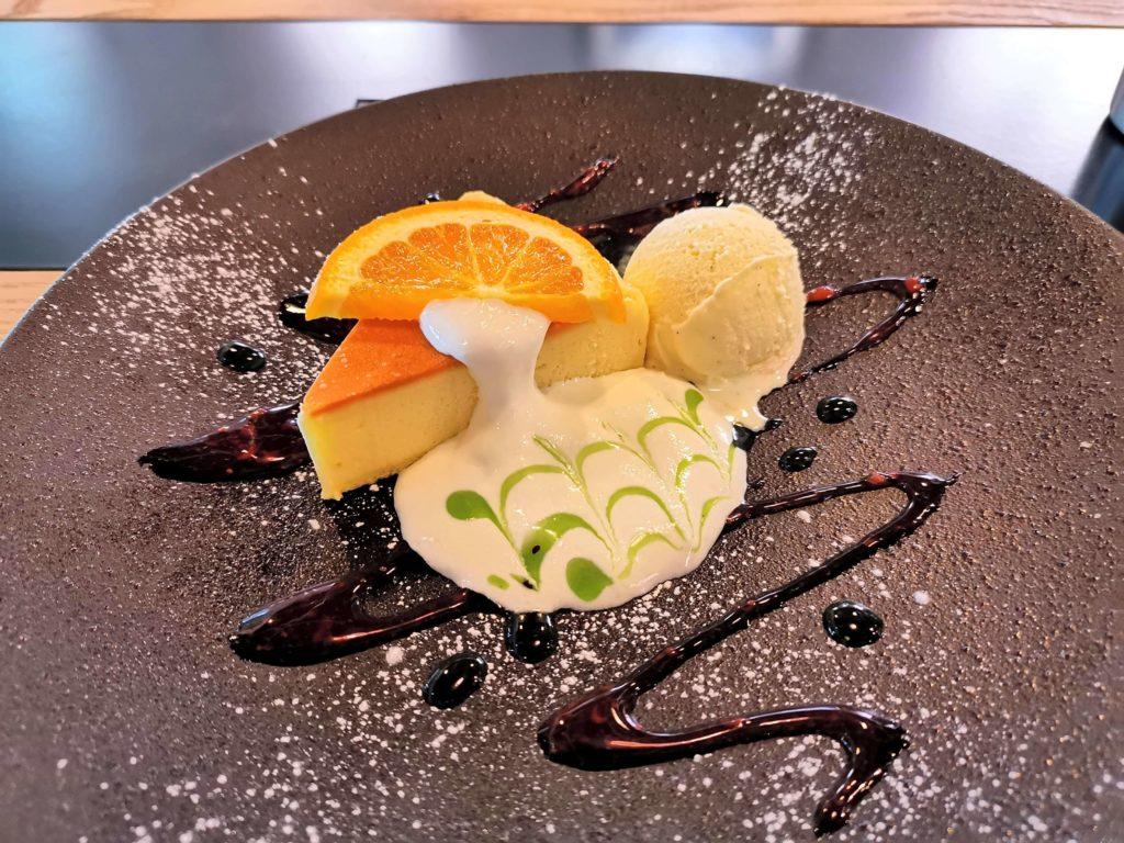 Cafe & Dining ICHI no SAKA 都立大学 福岡糸島地養卵のベイクドチーズケーキ (4)
