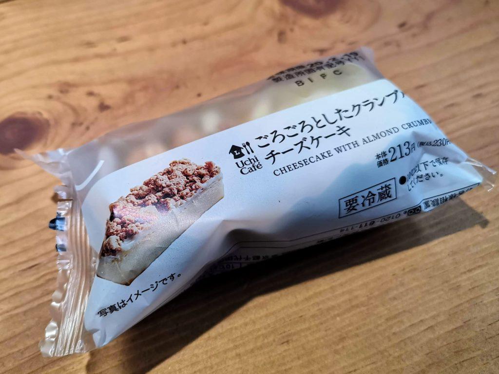 ローソン・ヤマザキパン ごろごろしたクランブルチーズケーキ (2)