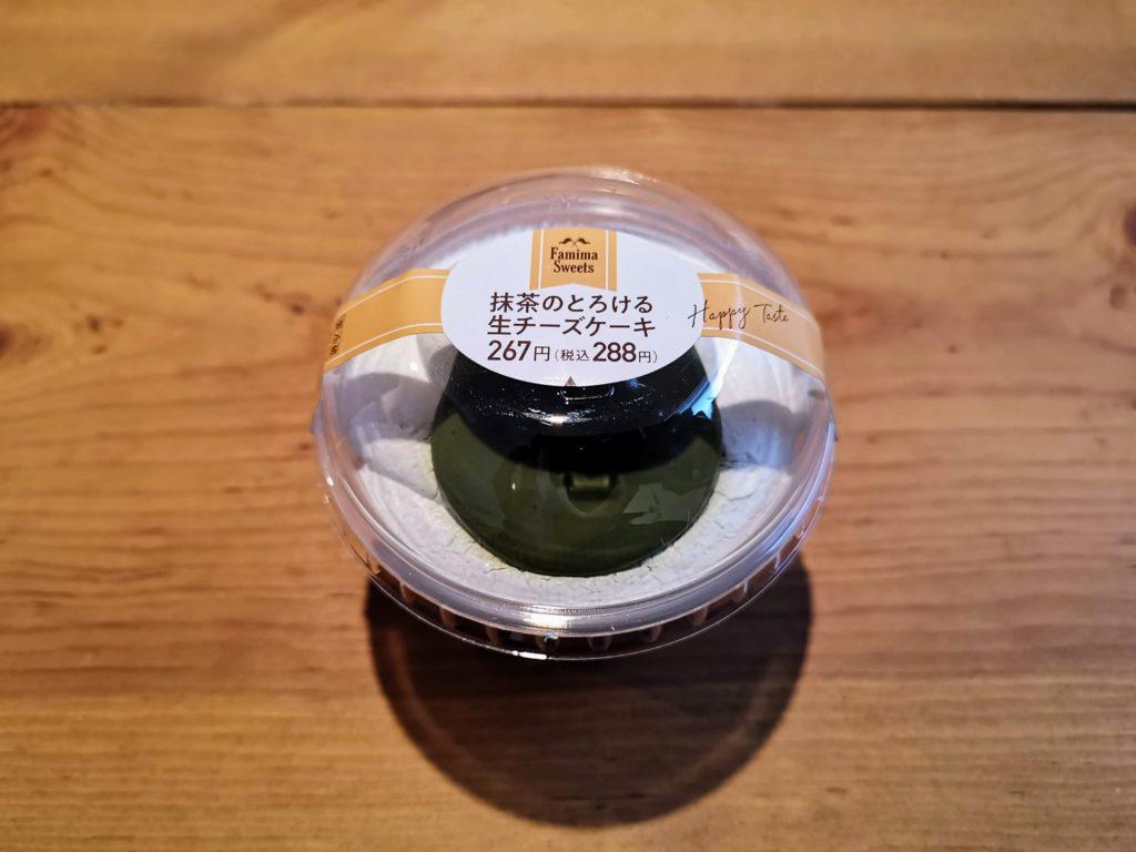 ファミリーマート(デザート)抹茶のとろける生チーズケーキ (2)