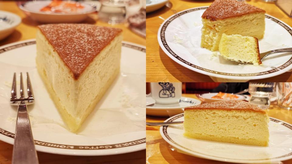 コメダ珈琲店 かろやかチーズ(チーズケーキ) (2)