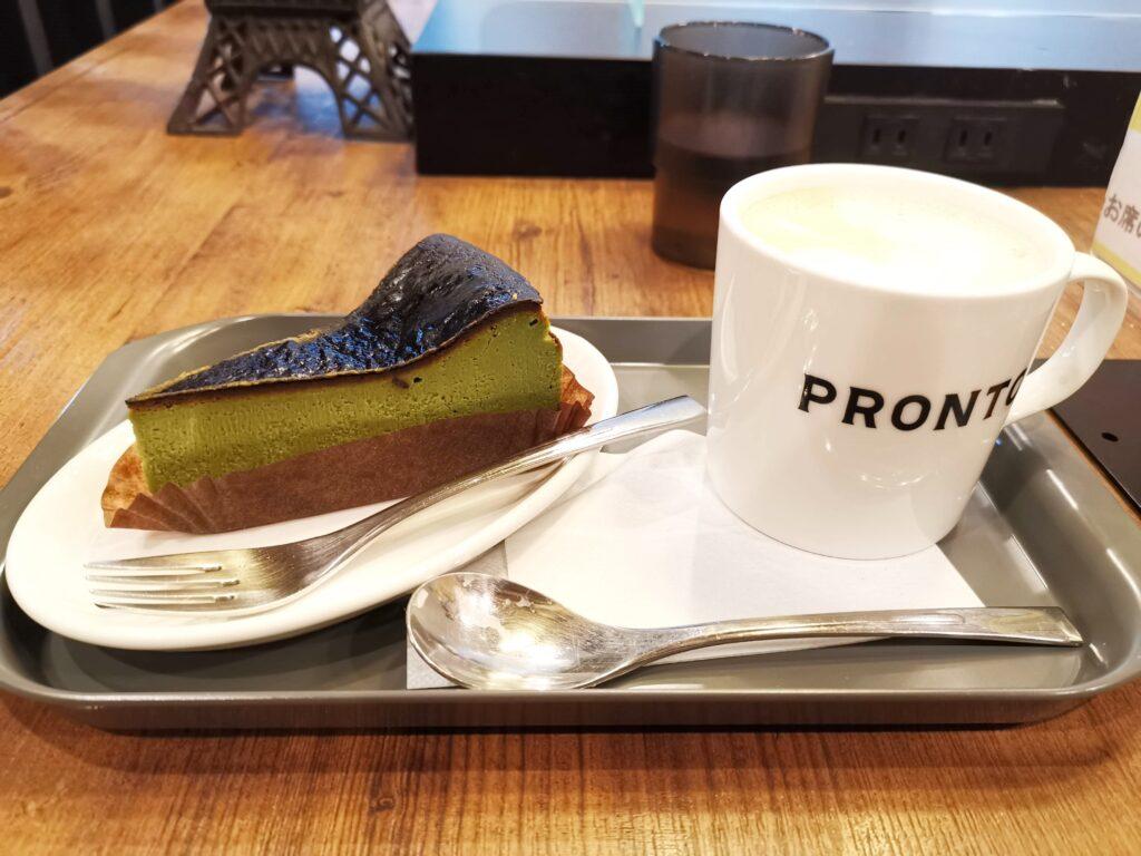 プロント STONEMILL MATCHA抹茶バスクチーズケーキの写真 (4)