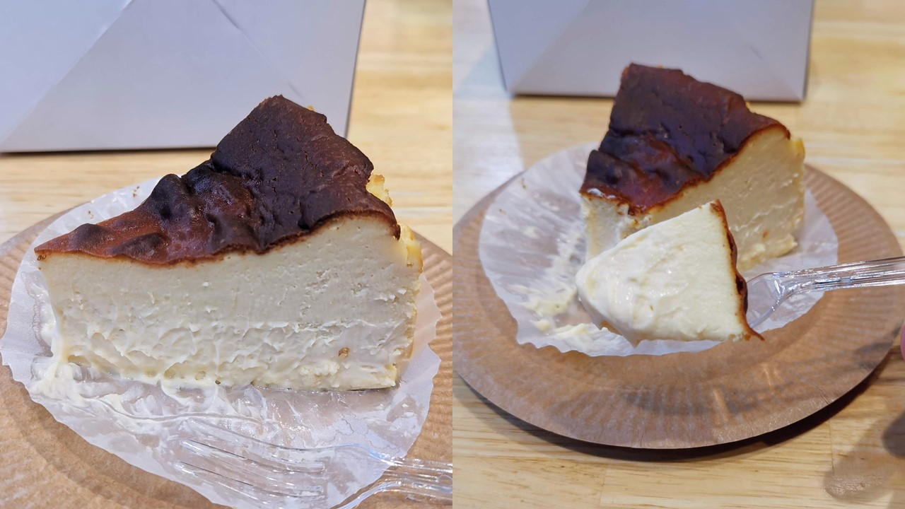 787 Nanohana Coffee Roaster(ナノハナコーヒーロースタリー)のバスクチーズケーキの写真