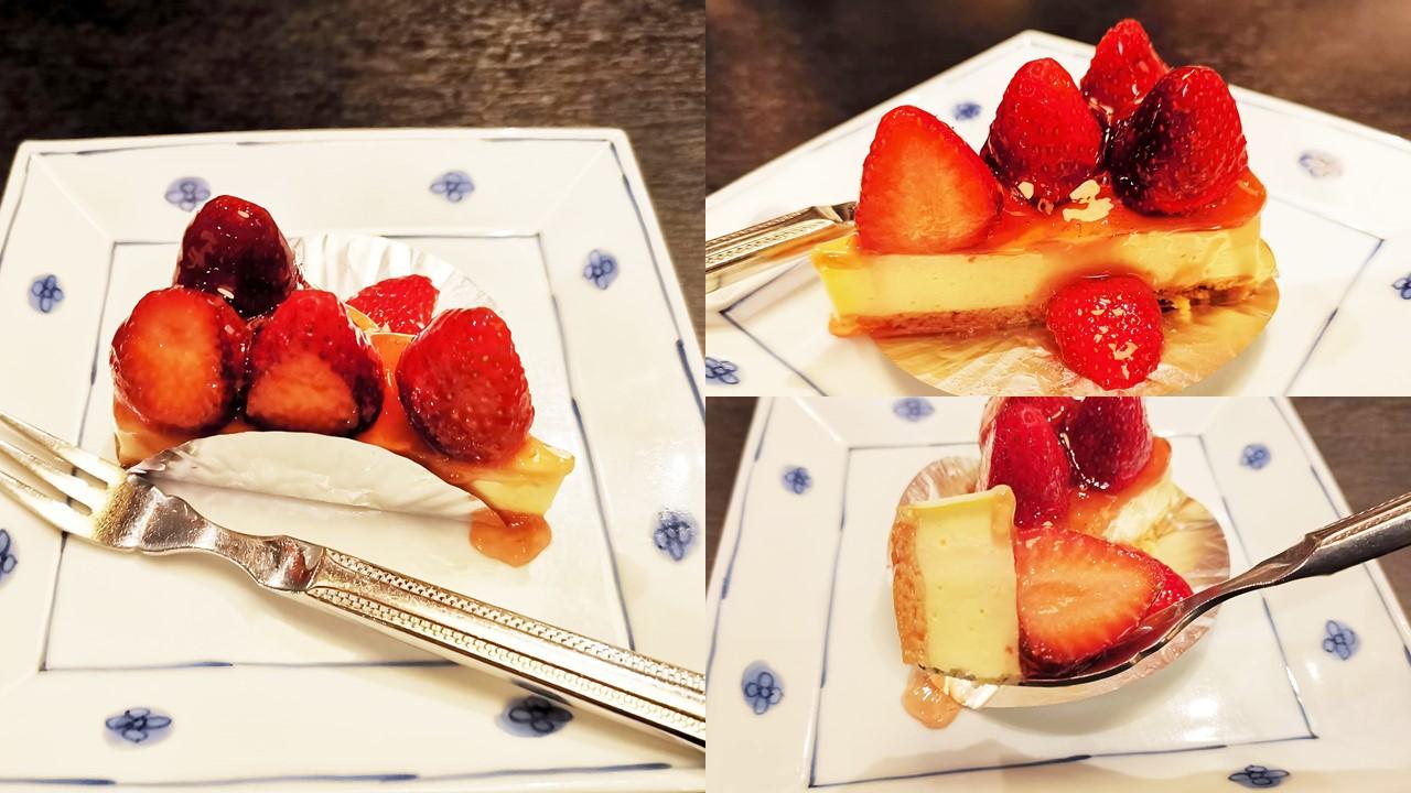 洋麺屋五右衛門の苺のレアチーズケーキの写真