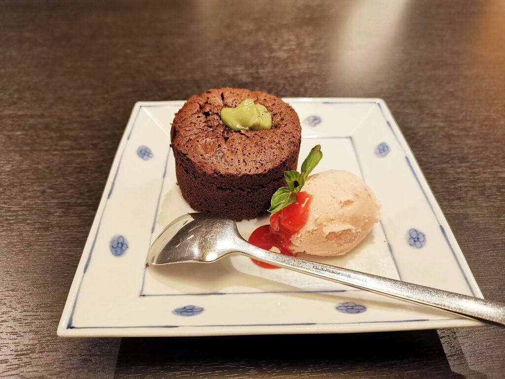洋麺屋五右衛門のピスタチオのフォンダンショコラの写真 (2)