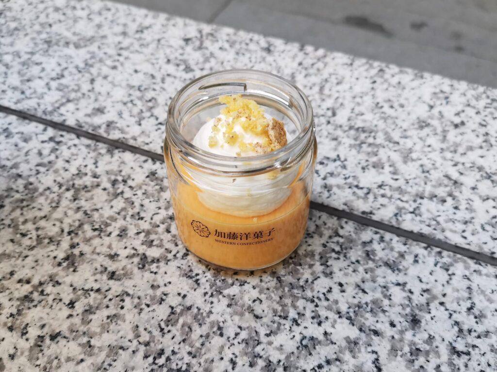 三田「加藤洋菓子」 の小美玉子のトリプルチーズプリンの写真 (5)_R