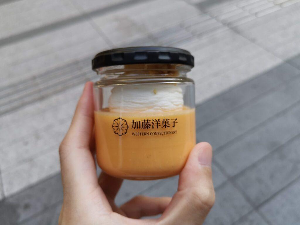 三田「加藤洋菓子」 の小美玉子のトリプルチーズプリンの写真 (2)_R