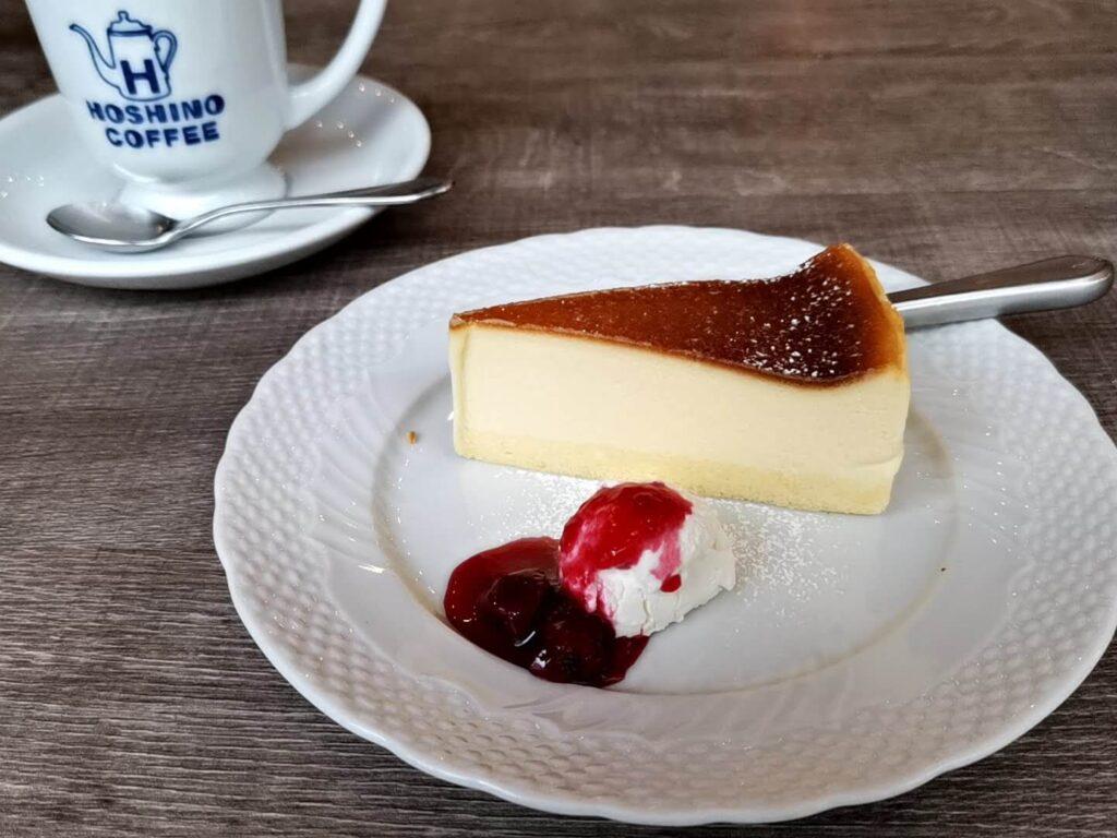 【星乃珈琲店】北海道バスクチーズケーキ チェリーソース添えの写真 (22)