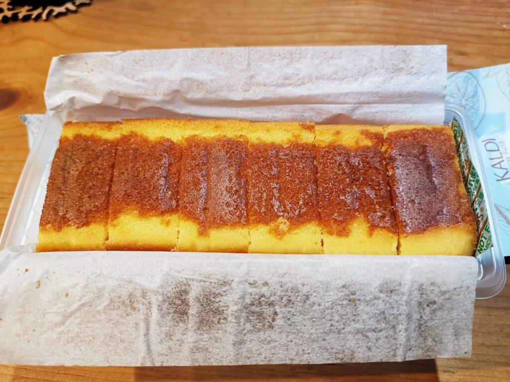 カルディで購入・クーベルチュールチョコレートチーズケーキの写真