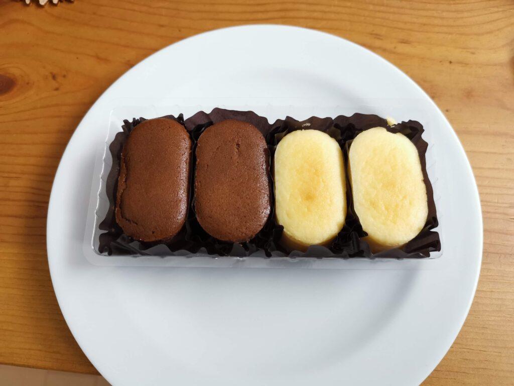 ローソン(不二家)のプチスフレ チーズ&チョコチーズ (1)