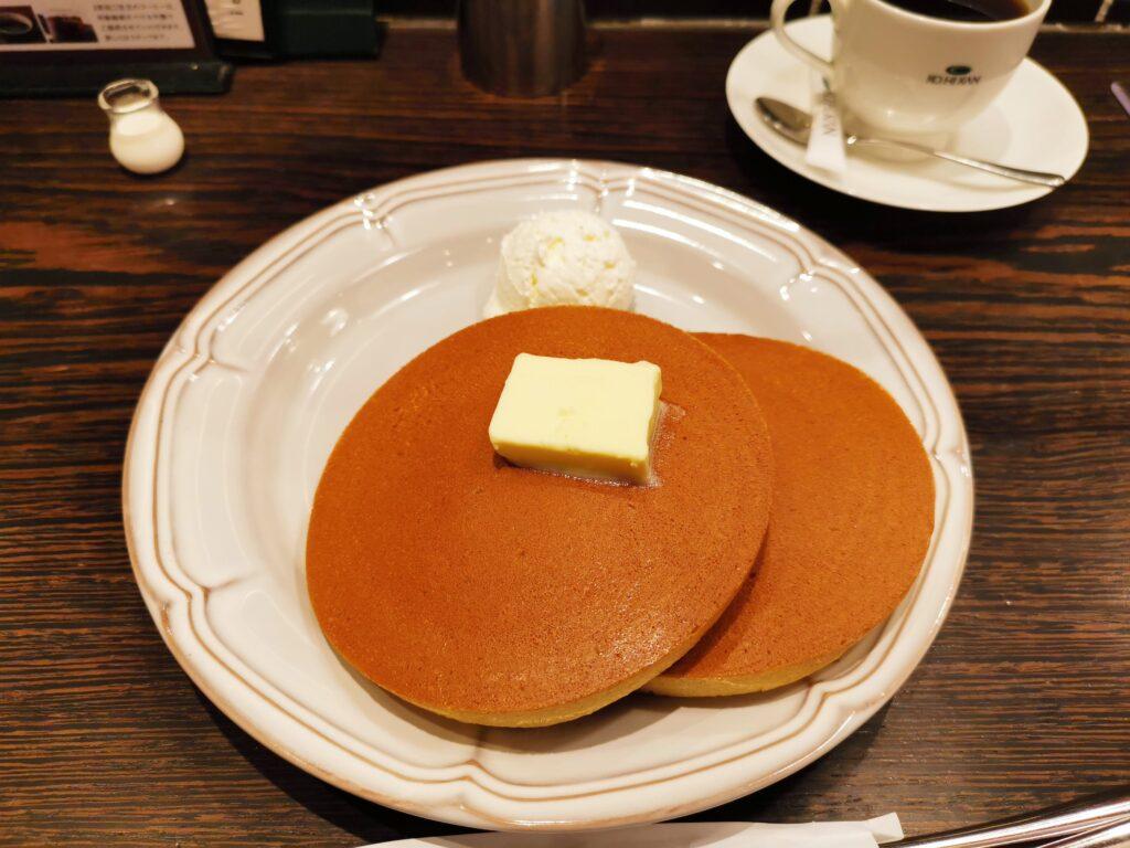 珈琲館のトラディショナルホットケーキ (1)